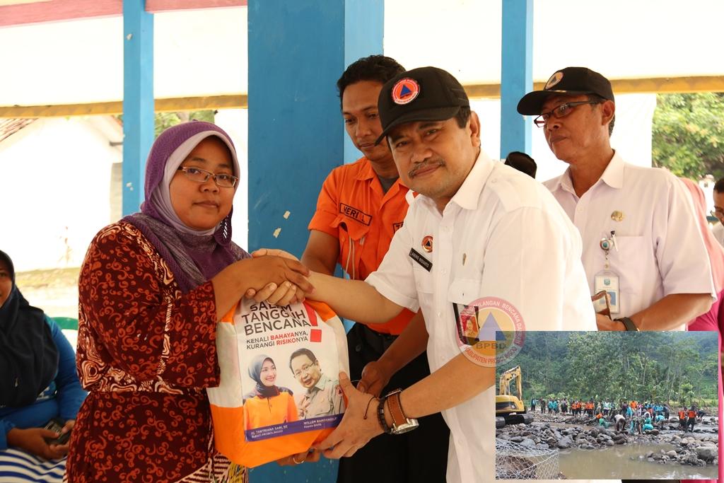 BPBD Berikan Bantuan dan Melaksanakan Kerja Bakti  Pasca Bencana