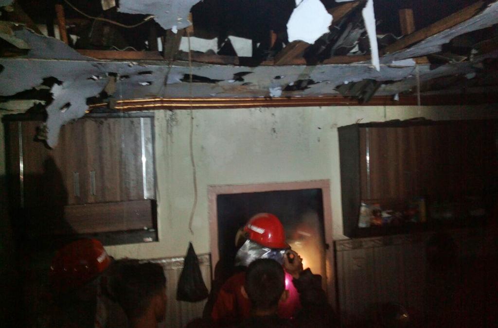 Kebakaran Gudang Bawang di Desa Jorongan Kecamatan Leces