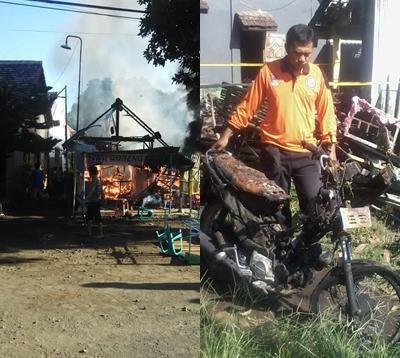 Rumah Terbakan Habis Akibat Arus Pendek di Desa Karanggeger, Pajarakan.
