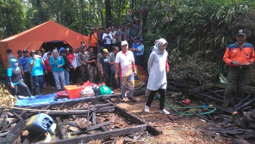 Kebakaran Rumah di Desa Kricil Kecamatan Krucil